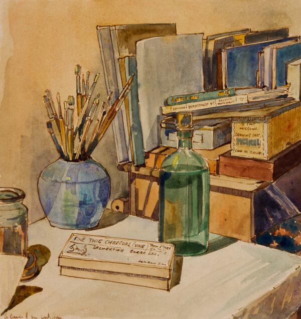 GOODFELLOW Reginald (1894-1985) - 'A corner of my workroom'.