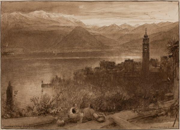 GOODWIN Albert (1845-1932) - 'Pallanza, Lago Maggiore'.