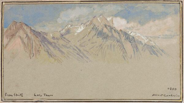 GOODWIN Albert R.W.S. (1845-1932) - Switzerland: 'From Spitz.