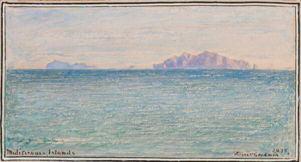 GOODWIN Albert (1845-1932) - 'Mediterranean Islands'.