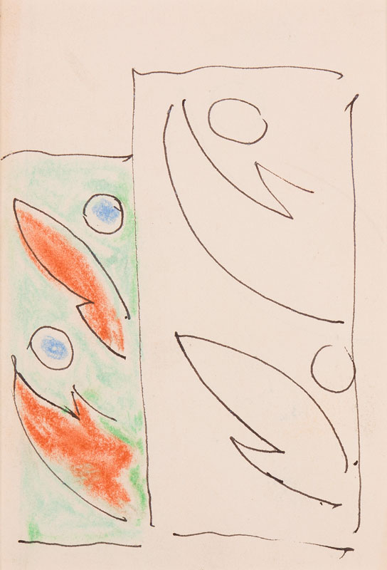 GRANT Duncan L.G. (1885-1978) - Design for a rug, or fabric.