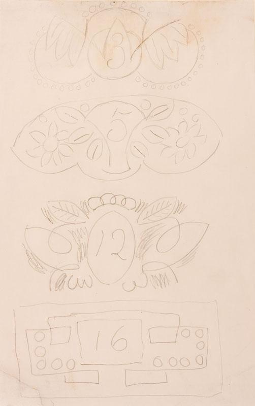GRANT Duncan L.G. (1885-1978) - Cartouche designs I.