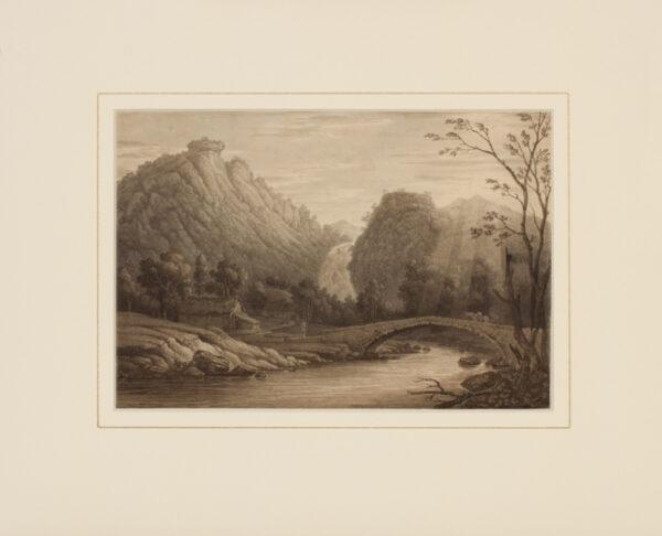 GREEN Willam (1760-1823) - Cumbria; 'Lowdore Waterfall'.