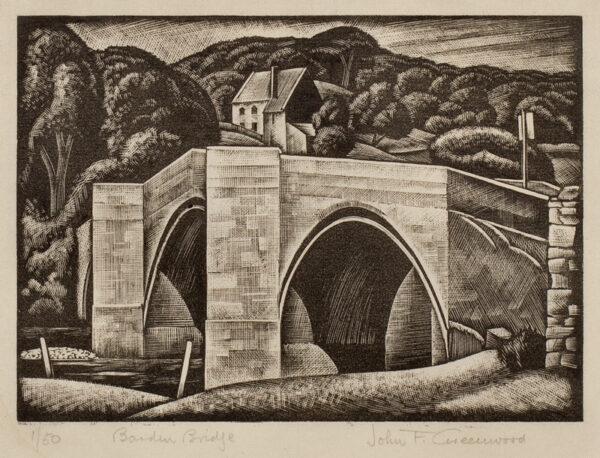 GREENWOOD John Frederic (1885-1954) - 'Barden Bridge'.