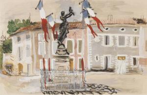 GROSS Anthony L.G. (1905-1984) - 'The New Century' ('L'Ere Nouvelle'), L'Avenue de la Gare, Villeneuve-sur-Lot.