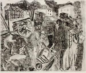 GROSS Anthony R.A. (1905-1984) - 'Children and wheelbarrow' (H.