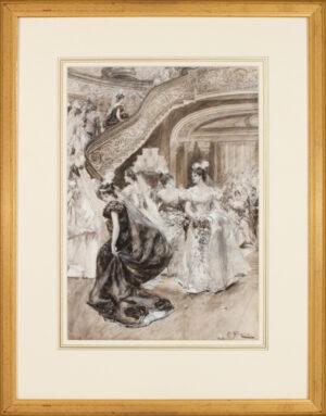 GULICH John Percival R.I. (1864-1898) - Buckingham Palace.