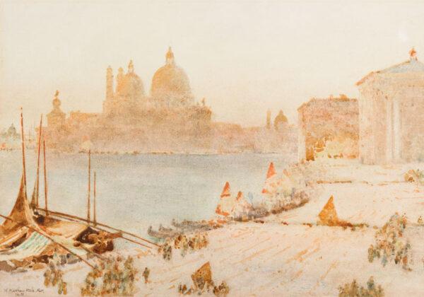 HALE William Matthew R.W.S (1849-1929) - 'Venice: A misty morning'.