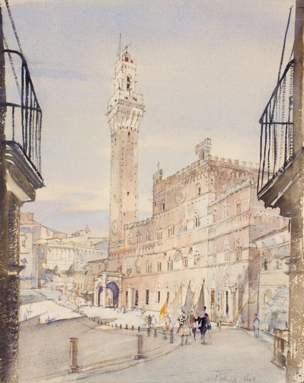 HALL Patrick (1906-1992) - Siena: the Campo.