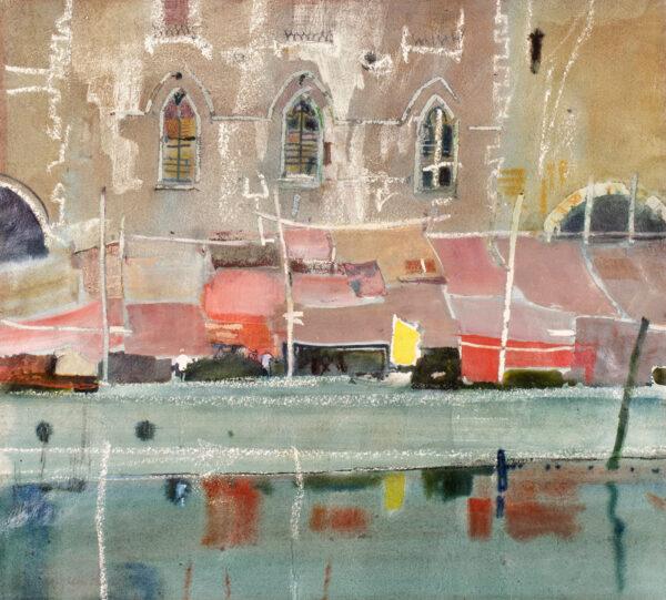 HALL Patrick (1906-1992) - 'Covered Market, Chioggia'.