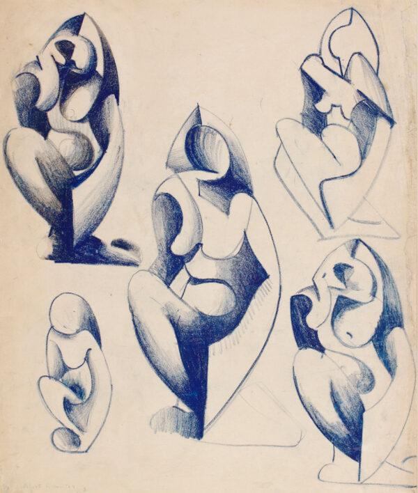 HAMILTON Cuthbert (1885-1959) - Sculptural figure studies.
