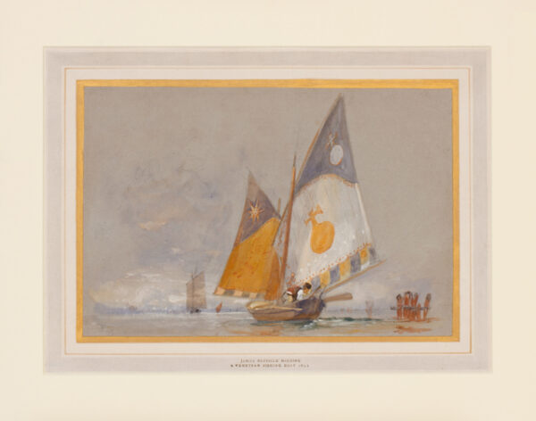 HARDING James Duffield (1798-1863) - A Venetian fishing boat.