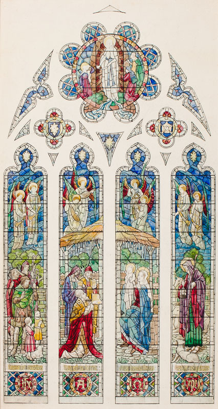 HARDMAN and Co. (Founded 1838 – 2008) - Twelve stained glass presentation drawings by the Birmingham firm associated with A W N Pugin.