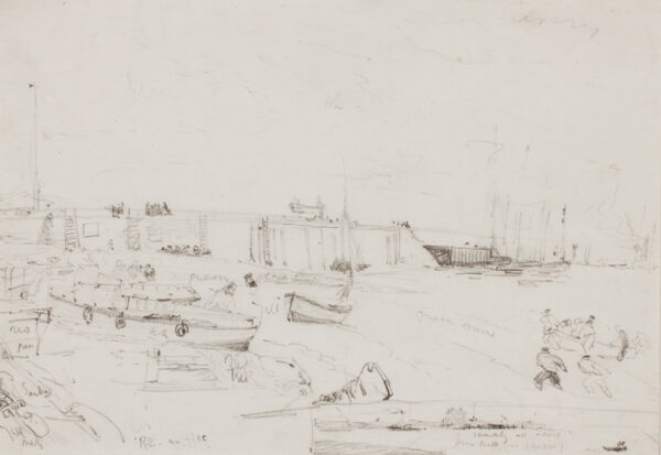 HARDY Thomas Bush R.W.S. (1842-1897) - Beach study.
