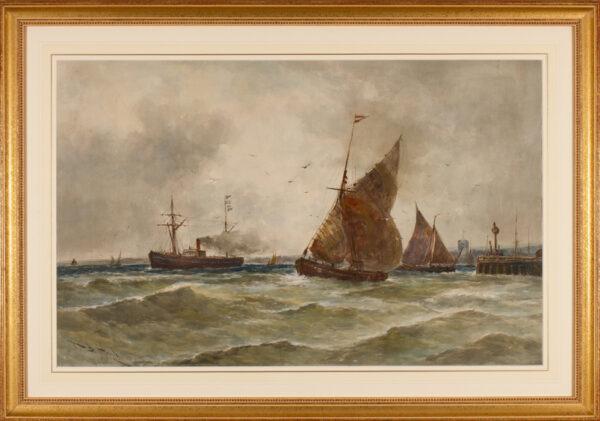 HARDY Thomas Bush R.B.A. (1842-1897) - 'Steam and Sail'.