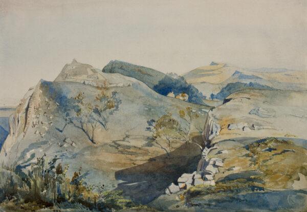 HARE Augustus (1834-1903) - Northumberland: 'The Roman Wall'.