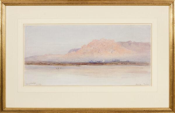 HARPER Henry Andrew (1835-1900) - 'Sunrise, Thebes'.