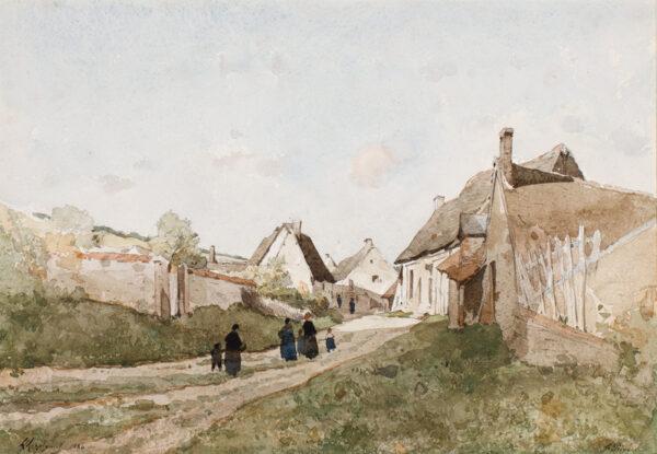 HARPIGNIES Henri-Joseph (1819-1916) - 'St Prive', Bourgogne.