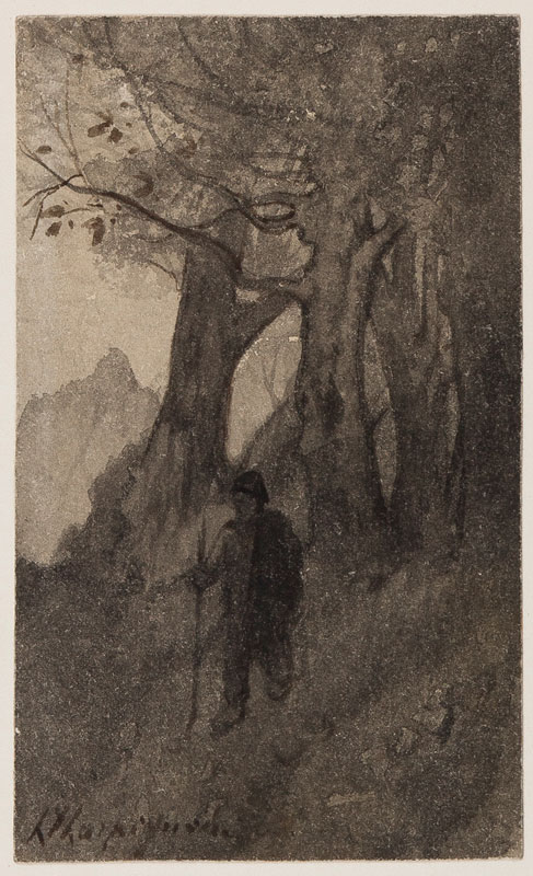 HARPIGNIES Henri (1819-1916) - The Wanderer.
