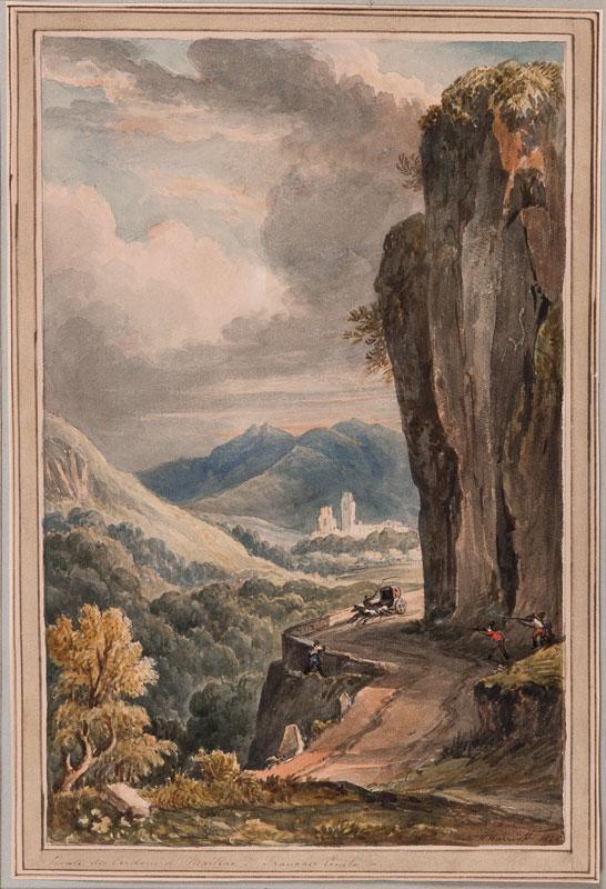 HARRIOTT William Henry (c.1790-1839) - France: 'Route de Cerdun a Maillac.