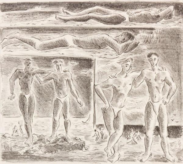 HARRISON John Theodore (1914-2002) - The beach.
