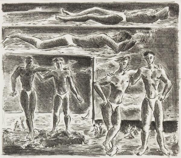 HARRISON John Theodore (1914-2002) - The Bathers.