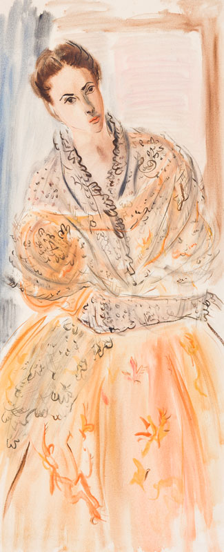 HARRISON John Theodore (1914-2002) - 'The mantilla'.