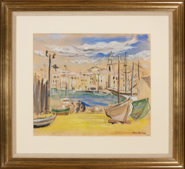 HARRISON John Theodore (1914-2002) - A Riviera port, probably St Tropez where he was living at this time.