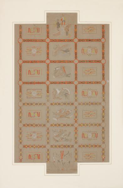 HART Barry (c.1890-1952) - Art deco ceiling design.