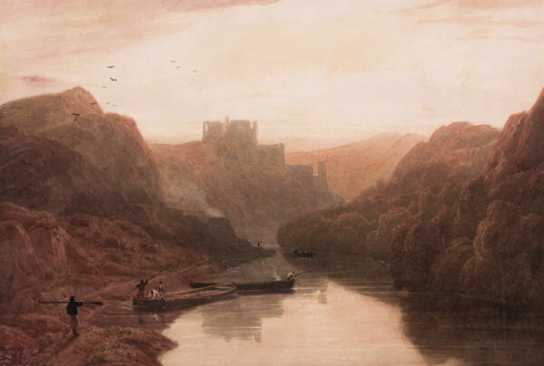 HAVELL William O.W.S. (1782-1857) - Cilgerran Castle, on the river Teifi.