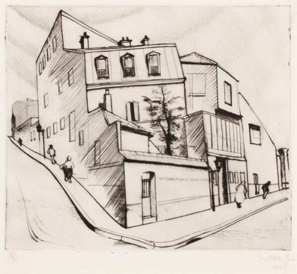 HAYTER Stanley William C.B.E. (1901-1988) - 'Rue Dareau' (BM 24).