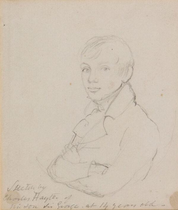 HAYTER Charles (1761-1835) - 'Sketch by / Charles Hayter of / his son Sir George at 14 years old'.