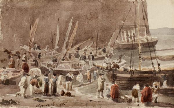 HAYWARD Samuel (1778-1822) - Fishermen at Plymouth.