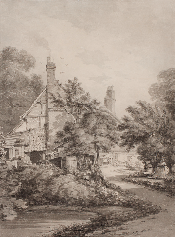 HEARNE Thomas (1744-1817) - The woodland cottage.