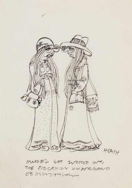 HEATH Michael (b.1935) - 'Muriel got sucked into the Piccadilly Underground …'.