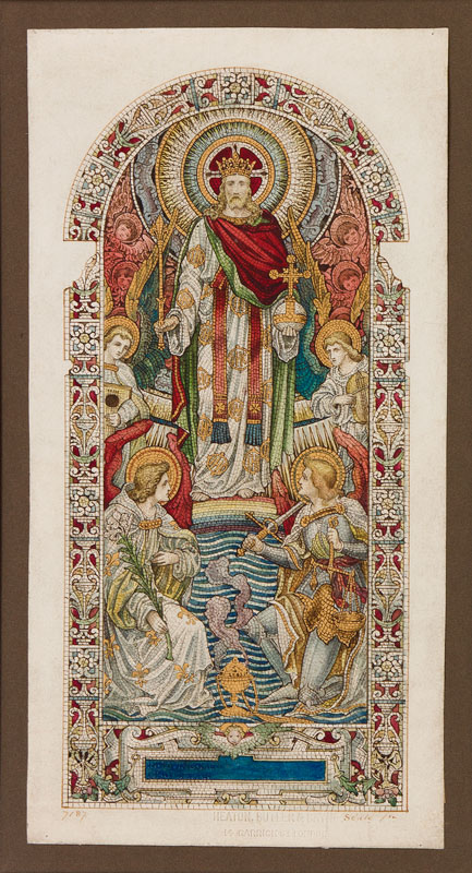 HEATON, BUTLER & BAYNE Firm of (Founded 1855/62 – 1953) - Presentation watercolour for a mosaic panel.