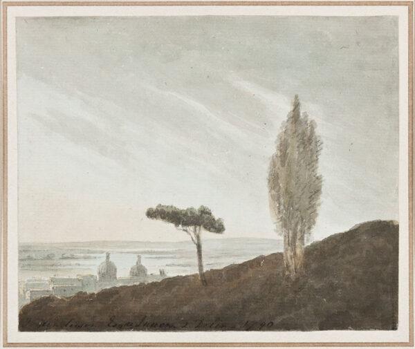 HENDERSON John (1764-1843) - Capriccio: Greenwich and Rome.