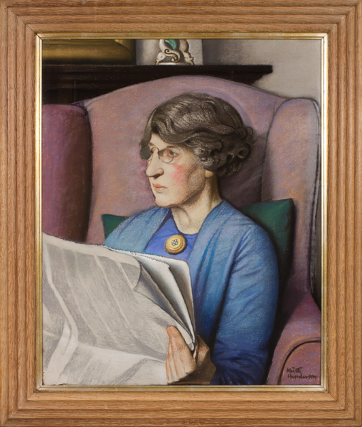 HENDERSON Keith R.W.S R.S.W (1883-1982) - 'The Insolvent Head Mistress'.