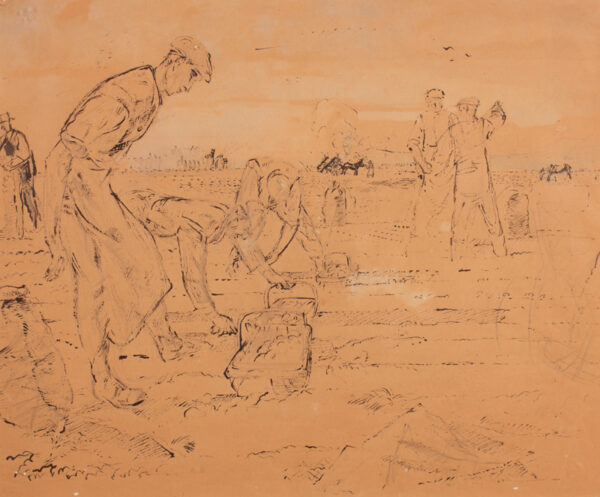 HENNELL Thomas R.W.S. (1903-1945) - 'Picking Potatoes'.