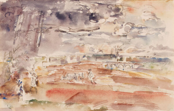 HENNELL Thomas Barclay (1903-1945) - Landscape study: ploughing.