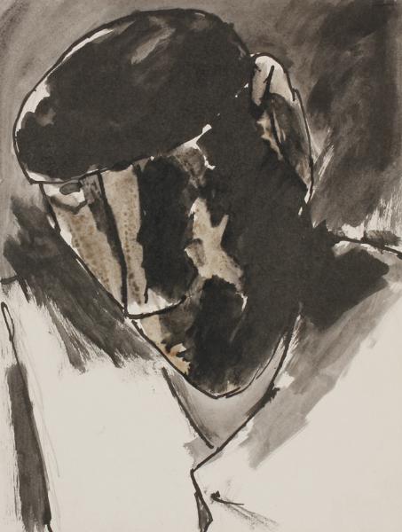 HERMAN Josef R.A. (1911-2000) - The Beret.