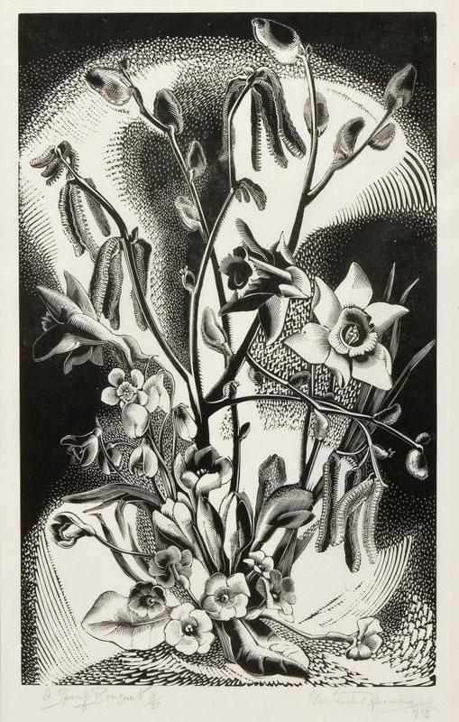HERMES Gertrude O.B.E. R.A. (1901-1983) - 'A Spring Bouquet'.