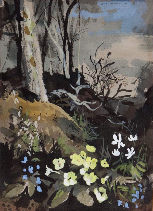 HILDER Rowland P.R.I. R.S.M.A. (1905-1993) - April woodland.