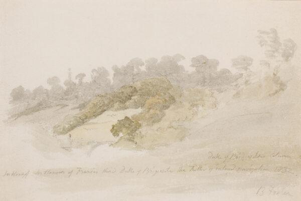 HILLS Robert O.W.S. (1769-1844) - Woods around the Duke of Bridgwater's Column.