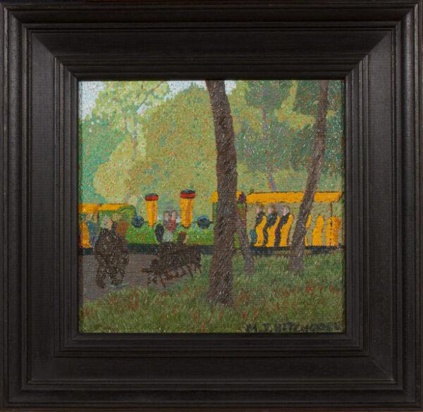 HITCHCOCK Malcolm (1929-1998) - 'Dimanche a le Bois de Boulogne' (sic).