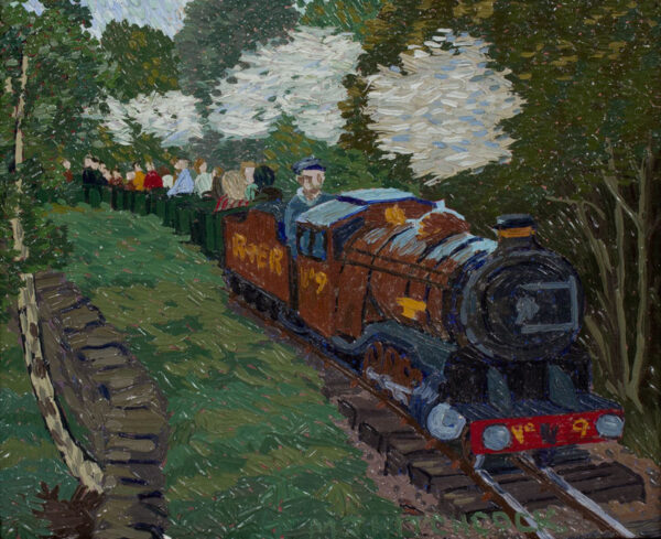 HITCHCOCK Malcolm (1929-1998) - 'Train on the Ravensglass and Eskdale Railway'.