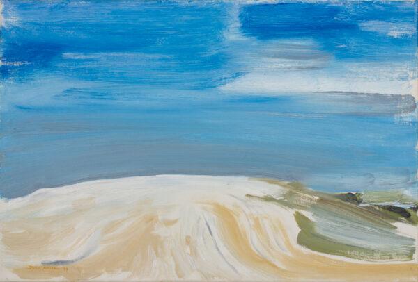 HITCHENS John (b.1940) - 'Plowed (sic) chalk hill'.