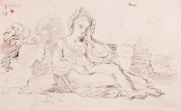 HOARE Mary (1753-1820) - Reclining model.