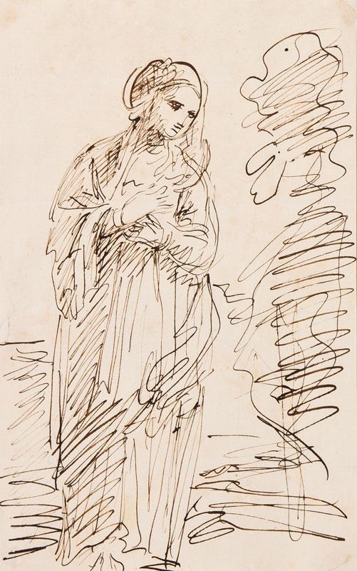 HOARE Mary (1753-1820) - Figure in landscape.