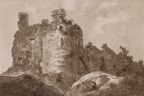 HOARE Sir Richard Colt F.R.S. (1758-1838) - 'Glamorgan, Corby Castle' Pen, brush and ink.